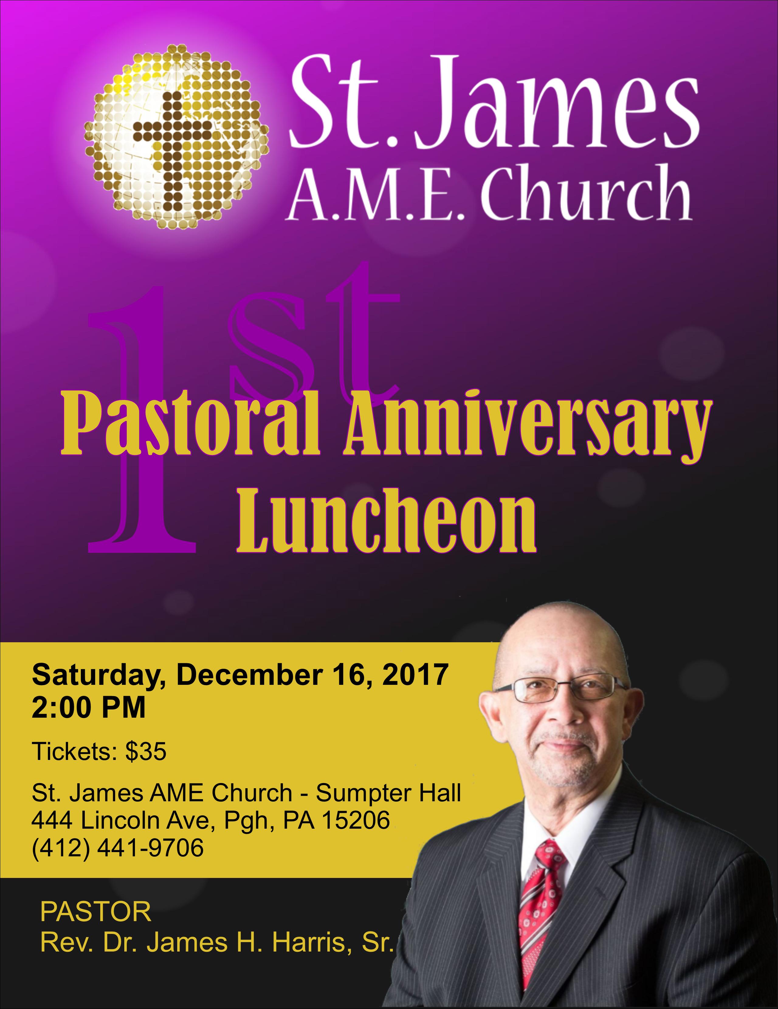 2017 Pastor Anniversary - Flyer - v2