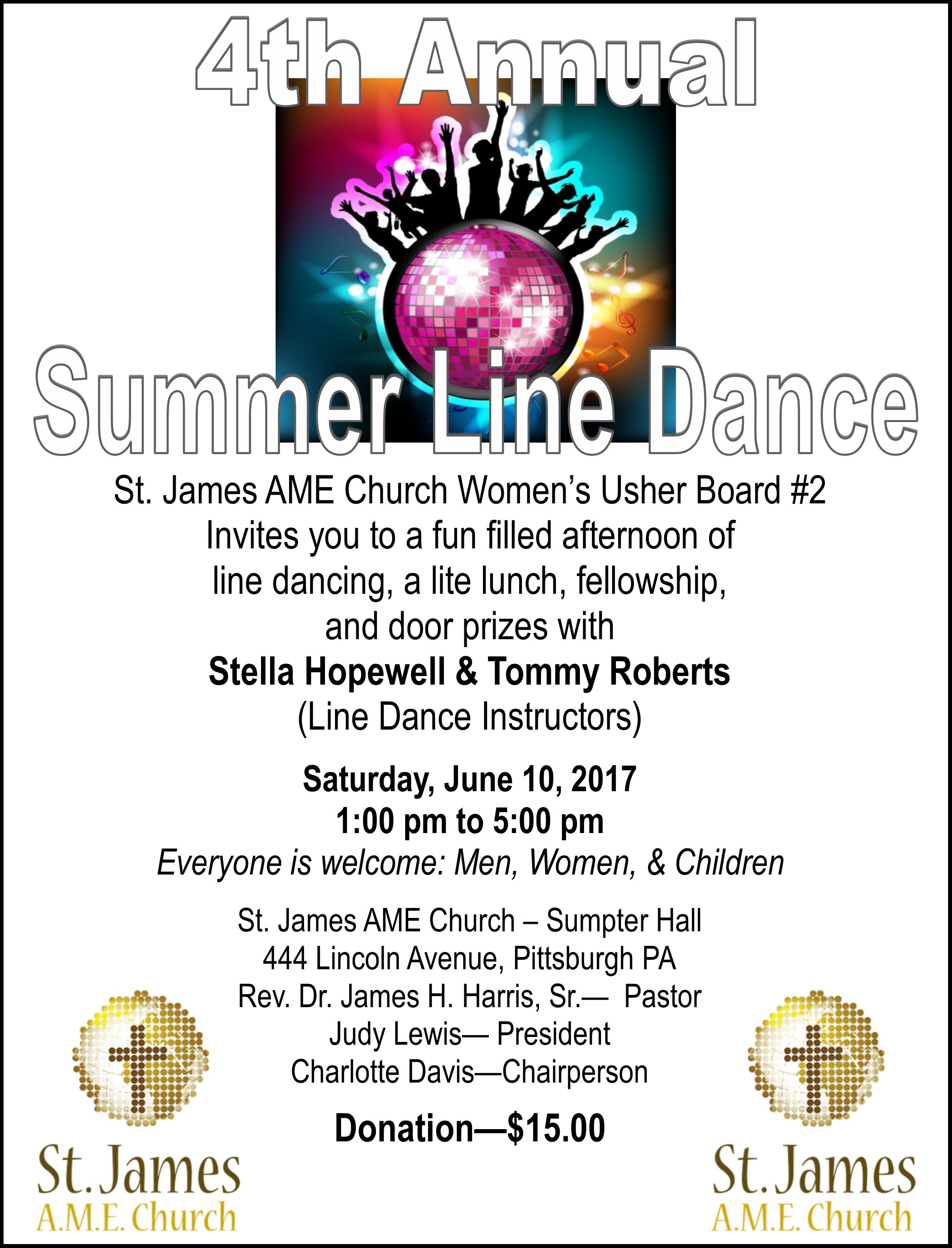 Summer Line Dance Flyer 2017